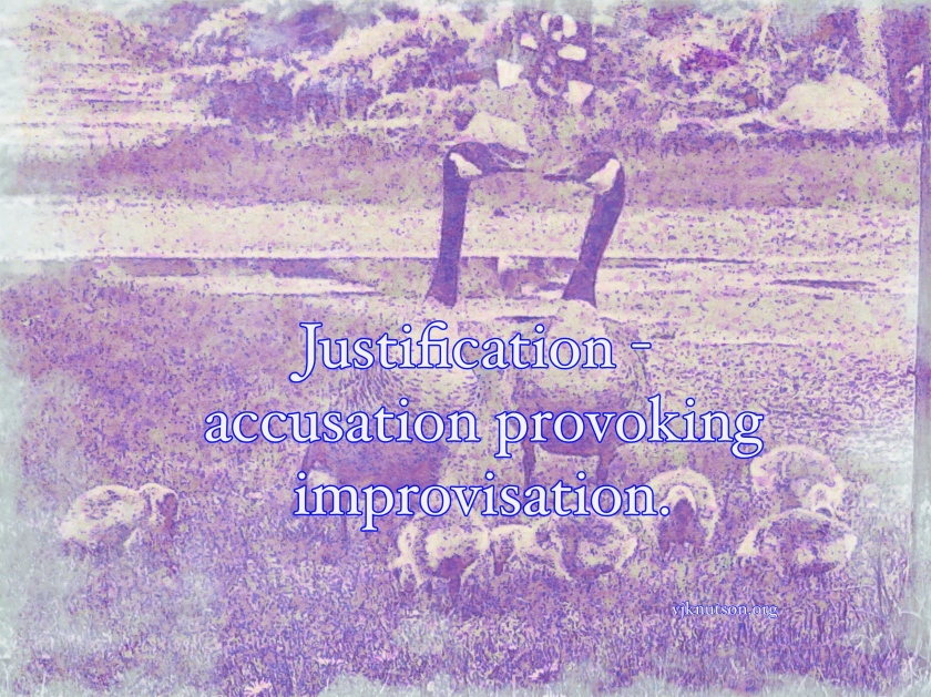 Justification haiku